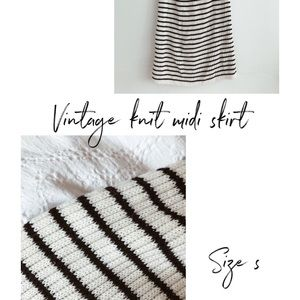 Dresses & Skirts - Vintage Stripe Knit Skirt